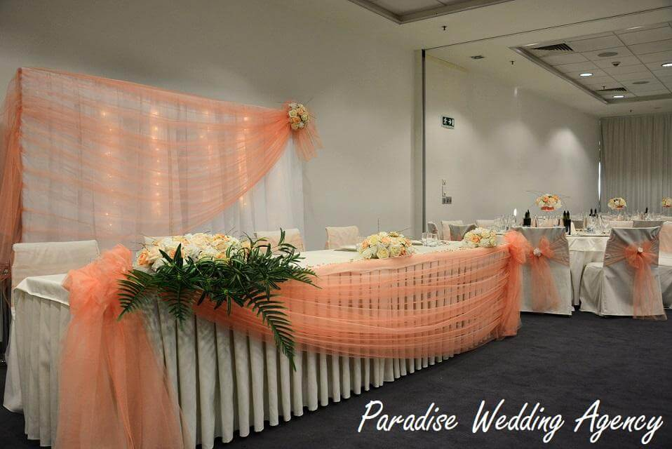 сватба в прасковено оранжево